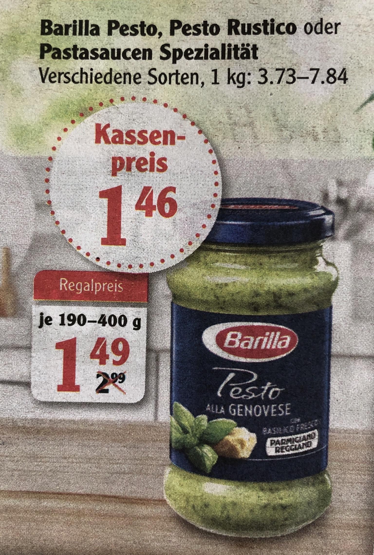 [Globus lokal] Barilla Pesto (verschiedene Sorten)