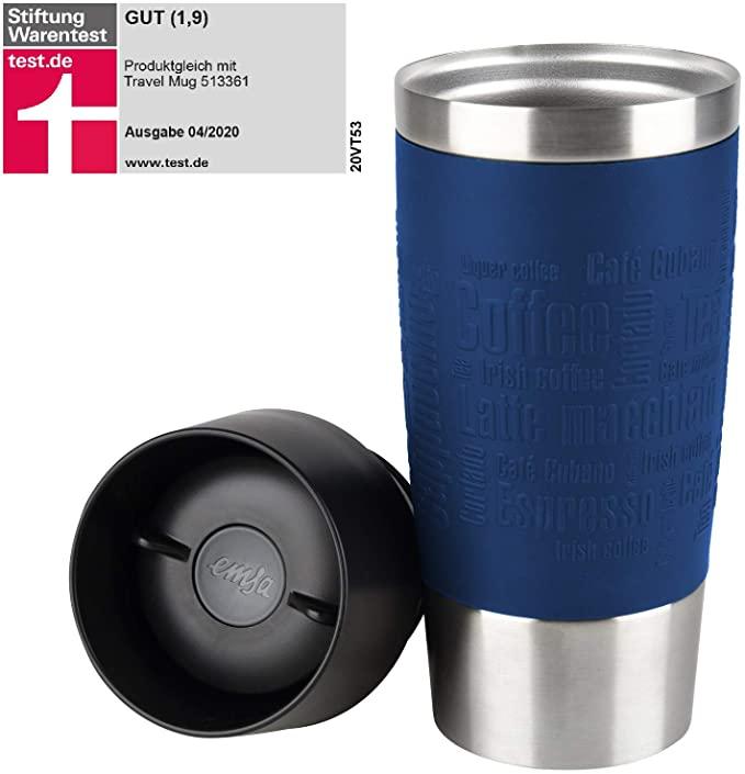 Emsa Travel Mug Thermo-Isolierbecher dunkelblau 360 ml für 12,97€ inkl. Versandkosten mit Prime