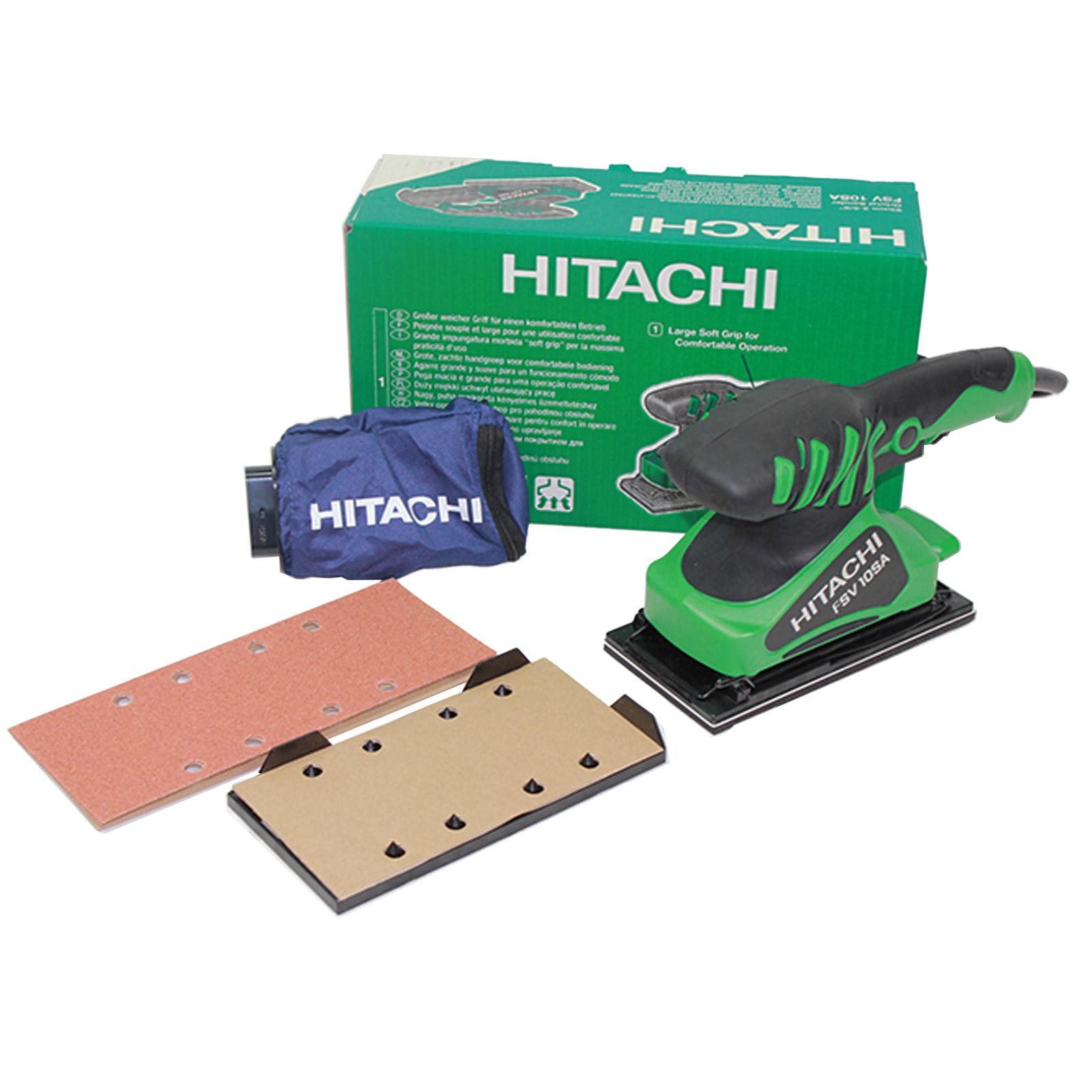 Hitachi Schwingschleifer - FSV10SA / 180W, Staubsack,6x Schleifpapier