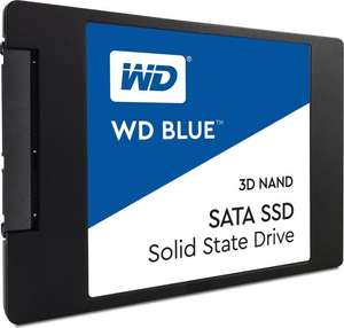 Western Digital WD Blue 3D NAND 500GB SSD (3D TLC, 512MB DRAM+SLC-Cache, 5 Jahre Garantie)