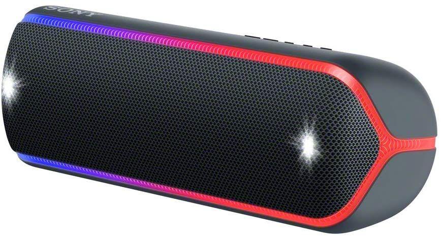 Sony SRS-XB32 Bluetooth Lautsprecher (NFC, Klinke, LED-Beleuchtung, Strobo, Freisprechfunktion, Stereo, wasserfest, Party Chain)