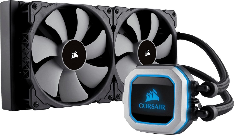 Corsair Hydro Series H115i Pro RGB 280mm CPU-Flüssigkeitskühler (für alle gängigen Sockel, 2x 140mm-Lüfter, 5J Garantie)