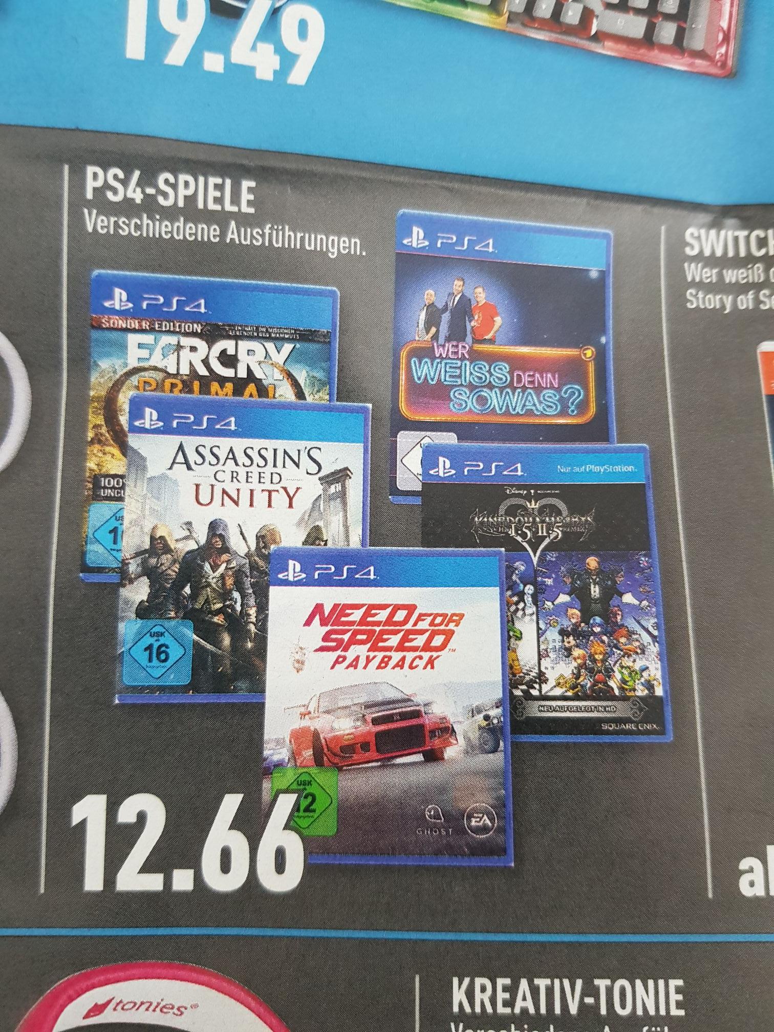 Lokal Marktkauf Bielefeld - Playstation 4 Spiele (z.B. Assassin's Creed: Unity PS4)