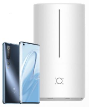 "[Medimax] Xiaomi Mi 10 5G Grün (6,67"" FHD+ AMOLED, SD865, 208g, 8/128GB, NFC, 4780mAh, 30W, 579k AnTuTu) + Mijia Luftbefeuchter ~60€"