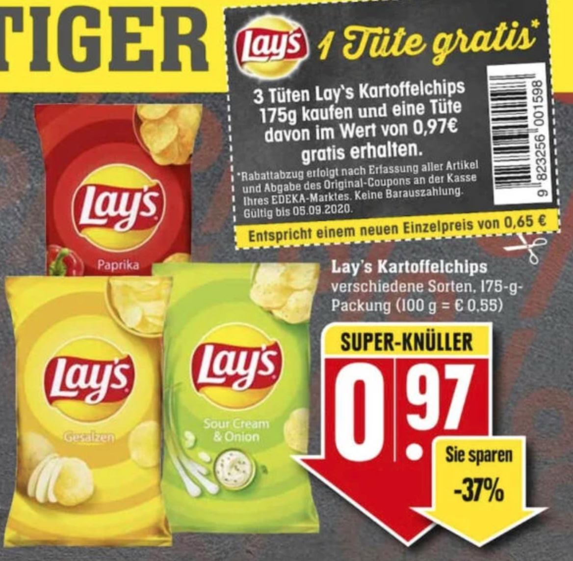 Lay's Chips 3 für 2 Aktion im Edeka [lokal? Edeka Südwest/Nauheim]