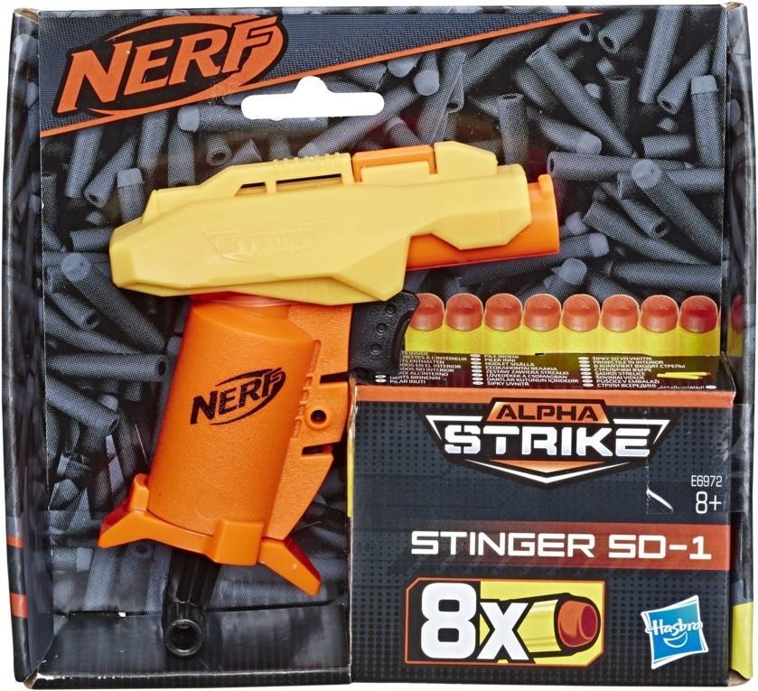 Hasbro Stinger SD-1 Nerf Alpha Strike Spielzeug-Blaster inkl. acht Nerf Elite Darts für 2,91€ (Müller Abholung)