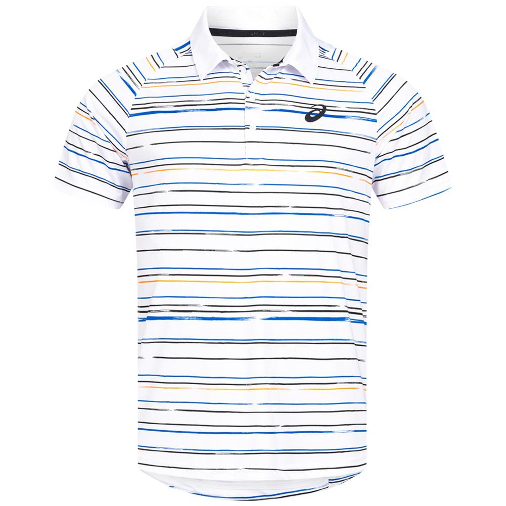 asics Club Graphic Herren Tennis Polo-Shirt (Größen S bis XXL)