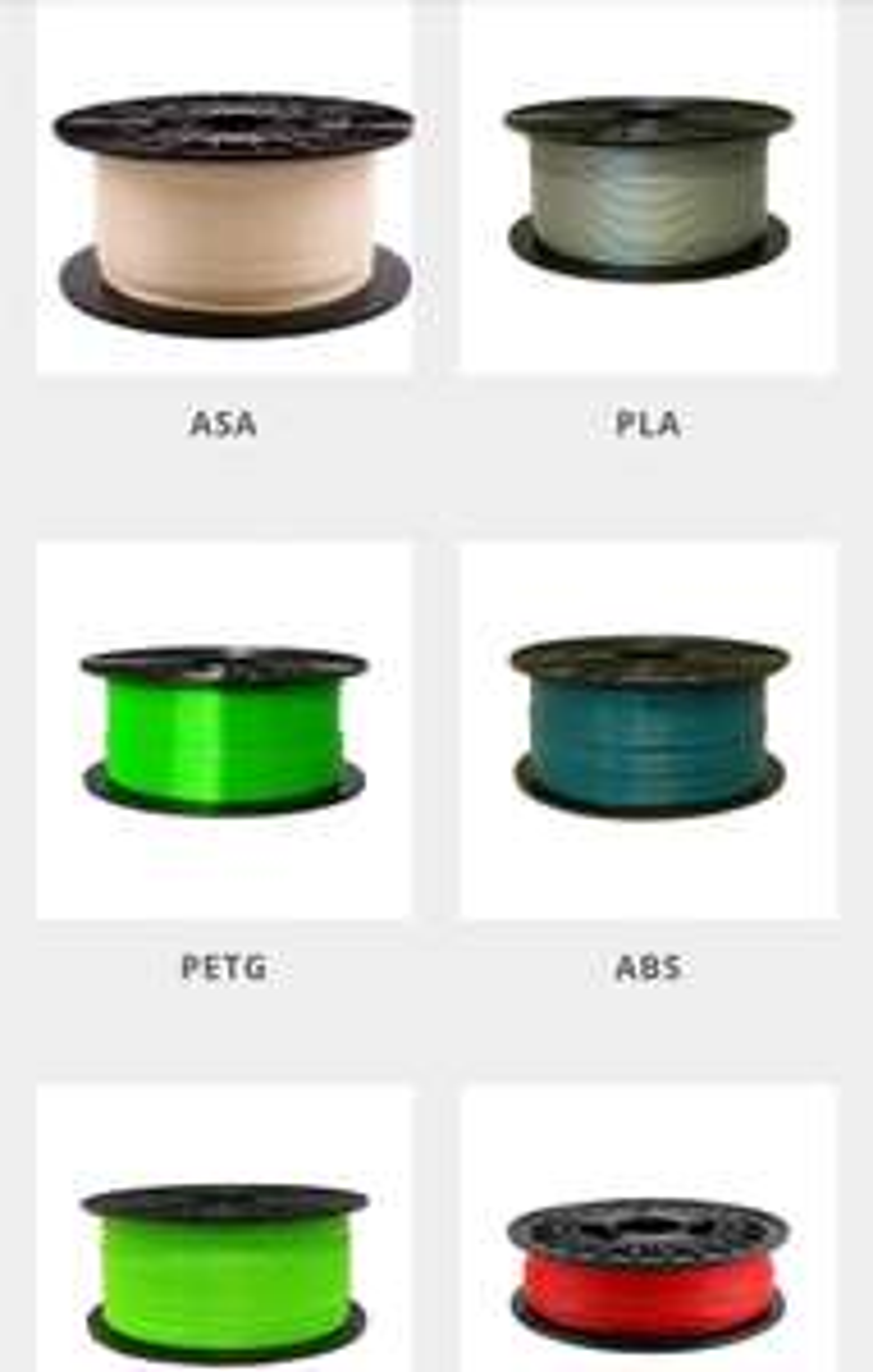 Schmelz.bar 15% + 3% auf alle Filamente, ASA, PLA, PETG, ABS, ABS-T, FLEXIBEL, HIPS...