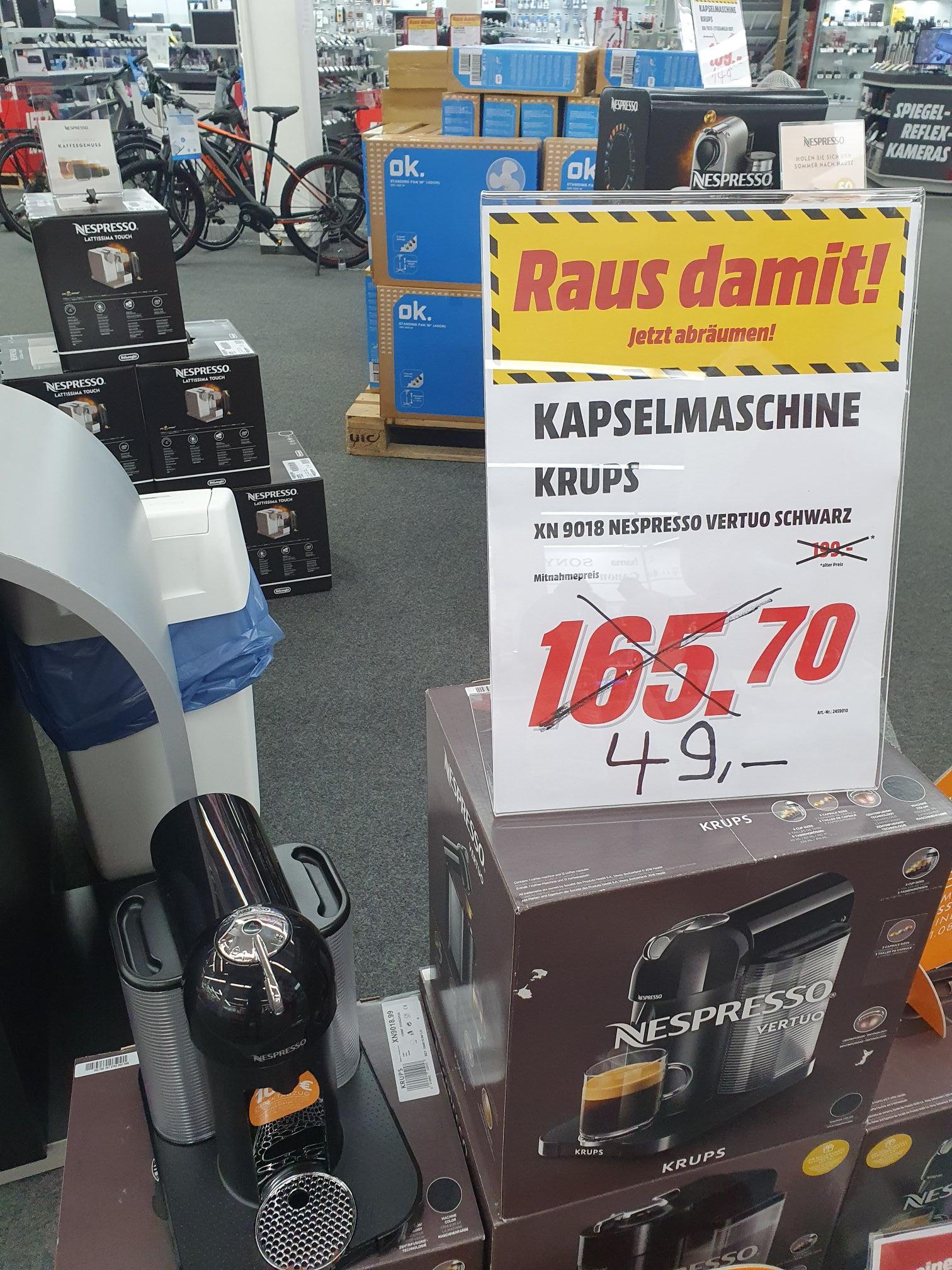Lokal Mediamarkt Mannheim - Nespresso Vertuo XN9018