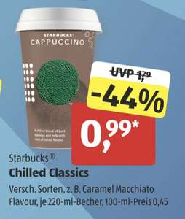 Starbucks® Chilled Classic für 0,96€ [ALDI-SÜD]