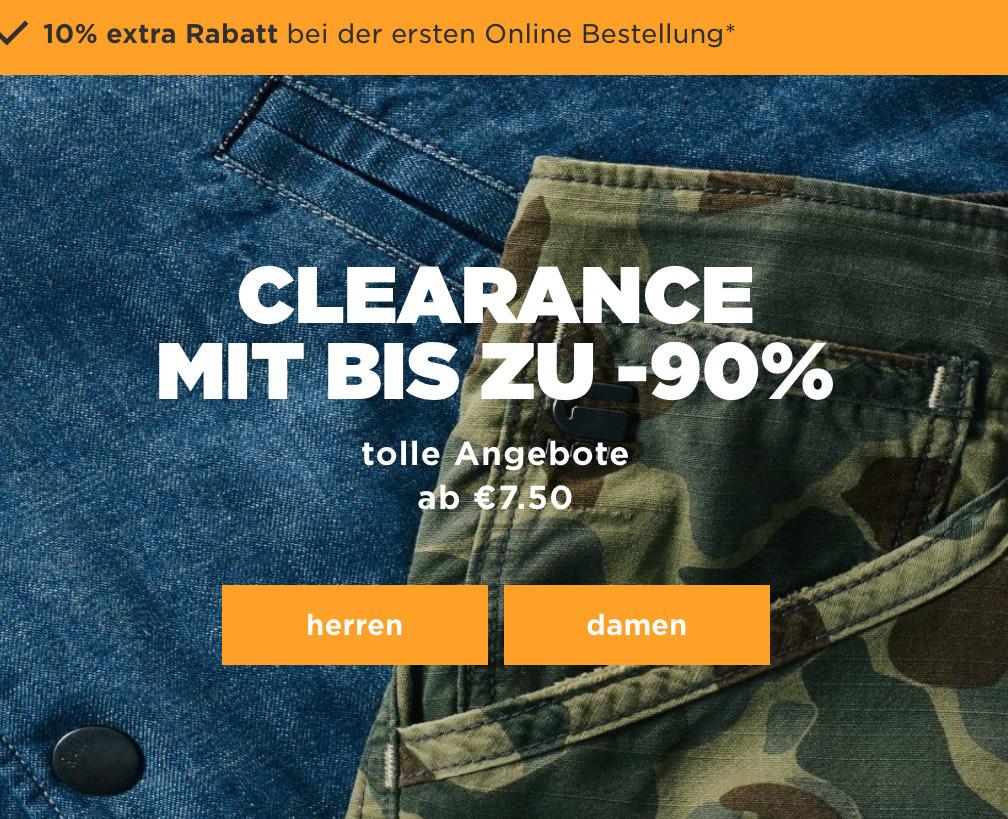 Großer Ausverkauf im G-Star Outlet Onlineshop mit bis zu 90% Rabatt plus 10% bei der ersten Bestellung z.B. 3301 Tapered Jeans