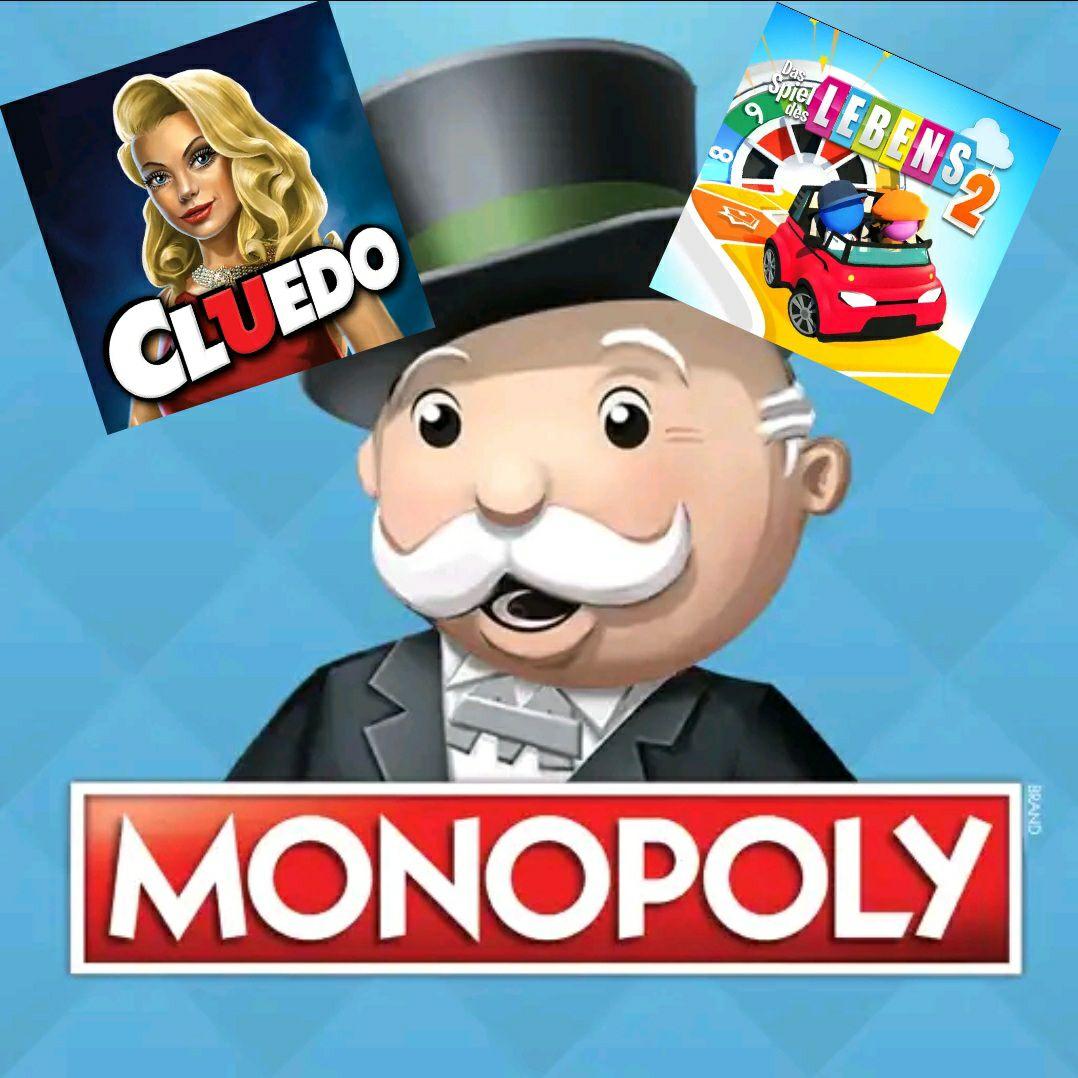 Google Playstore Brettspiele, z. B. Monopoly für 2,59 EUR, Spiel des Lebens 2 für 2,59 EUR und Cluedo für 0,99 EUR