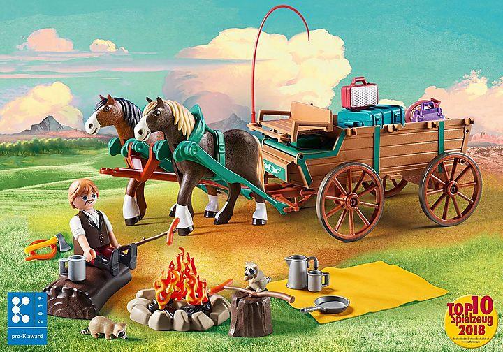 Playmobil 9477 Vater Jim mit Kutsche Spirit