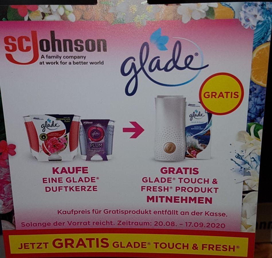 [dm] gratis glade Touch & Fresh bei Kauf einer glade Duftkerze