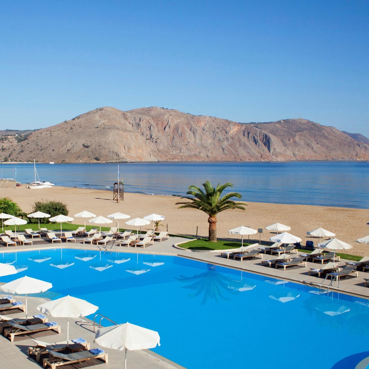 Kreta, Griechenland: 5* Hotel Pilot Beach Resort - Superior Bungalow Poolblick - Halbpension (VP +20€/Zimmer) / gratis Storno / 2020 & 2021