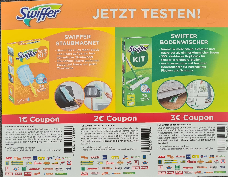 [Coupon] Swiffer - bis zu 3€ Sofortrabatt durch Gutscheine