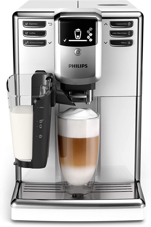 Philips 5000 Serie EP5331/10 Kaffeevollautomat, 6 Kaffeespezialitäten (LatteGo Milchsystem) Weiß [Amazon]
