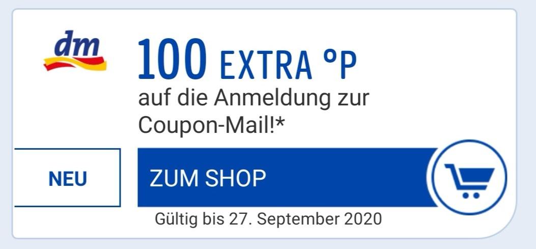 Payback: 100 Payback-Punkte geschenkt für Anmeldung zur DM Coupon-Mail [evtl. personalisiert]