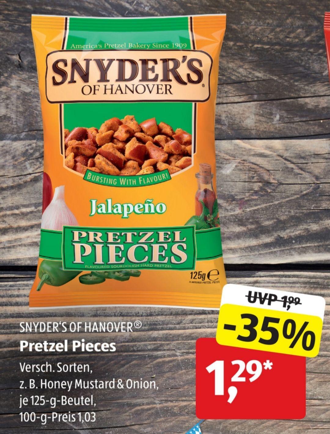 [Aldi Süd] Snyder's Of Hanover mit Coupies Cashback für effektiv 0,79€ (5x pro acc möglich)