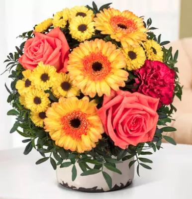 Wertgutschein über 12€ anrechenbar auf das gesamte Blumen- und Geschenksortiment von Valentins,z.B. Blumenstrauß Ich denk an Dich für 14,52€