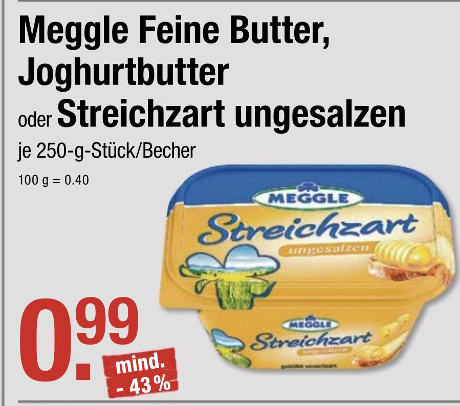 99Cent - Meggle - Feine Butter, Joghurtbutter, Streichzart -250g @ V-Markt