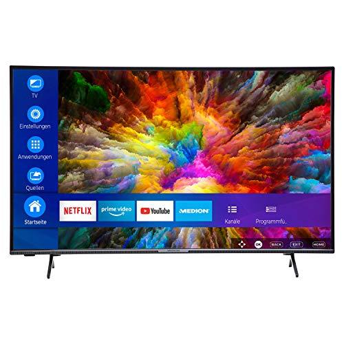 MEDION X14912 123,2 cm (49 Zoll) UHD Fernseher (Smart-TV, 4K, HDR 10, Micro Dimming, Netflix, Prime Video, WLAN, PVR, Bluetooth) [Amazon]