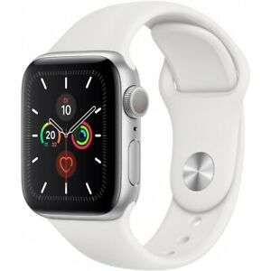 Apple Watch Series 5 (GPS) 40mm Aluminium silber mit Sportarmband weiß - US-Ware