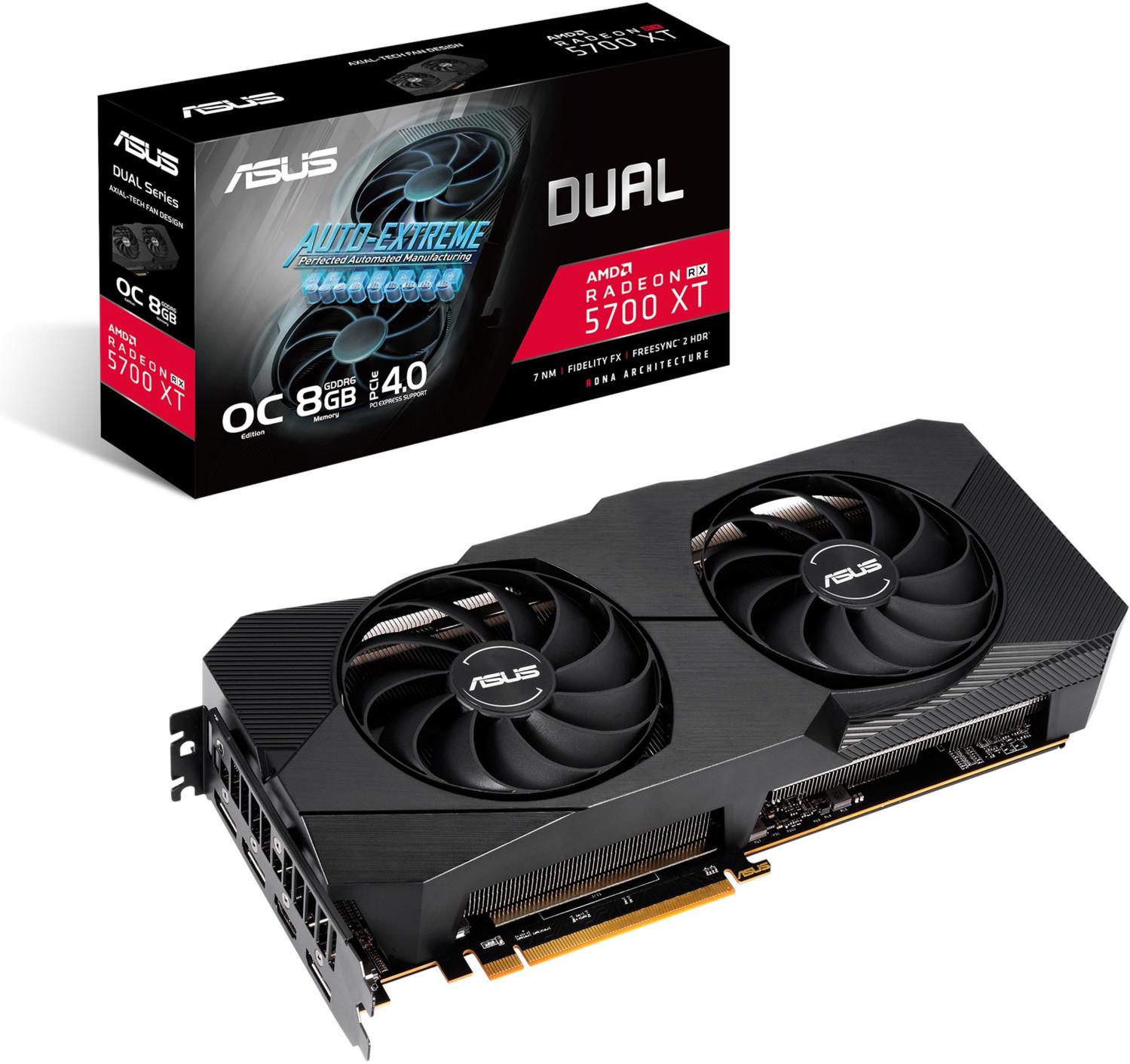 ASUS Radeon Dual RX 5700 XT O8G EVO (90YV0DA2-M0NA00) Grafikkarte für 339,20€ inkl. Versandkosten