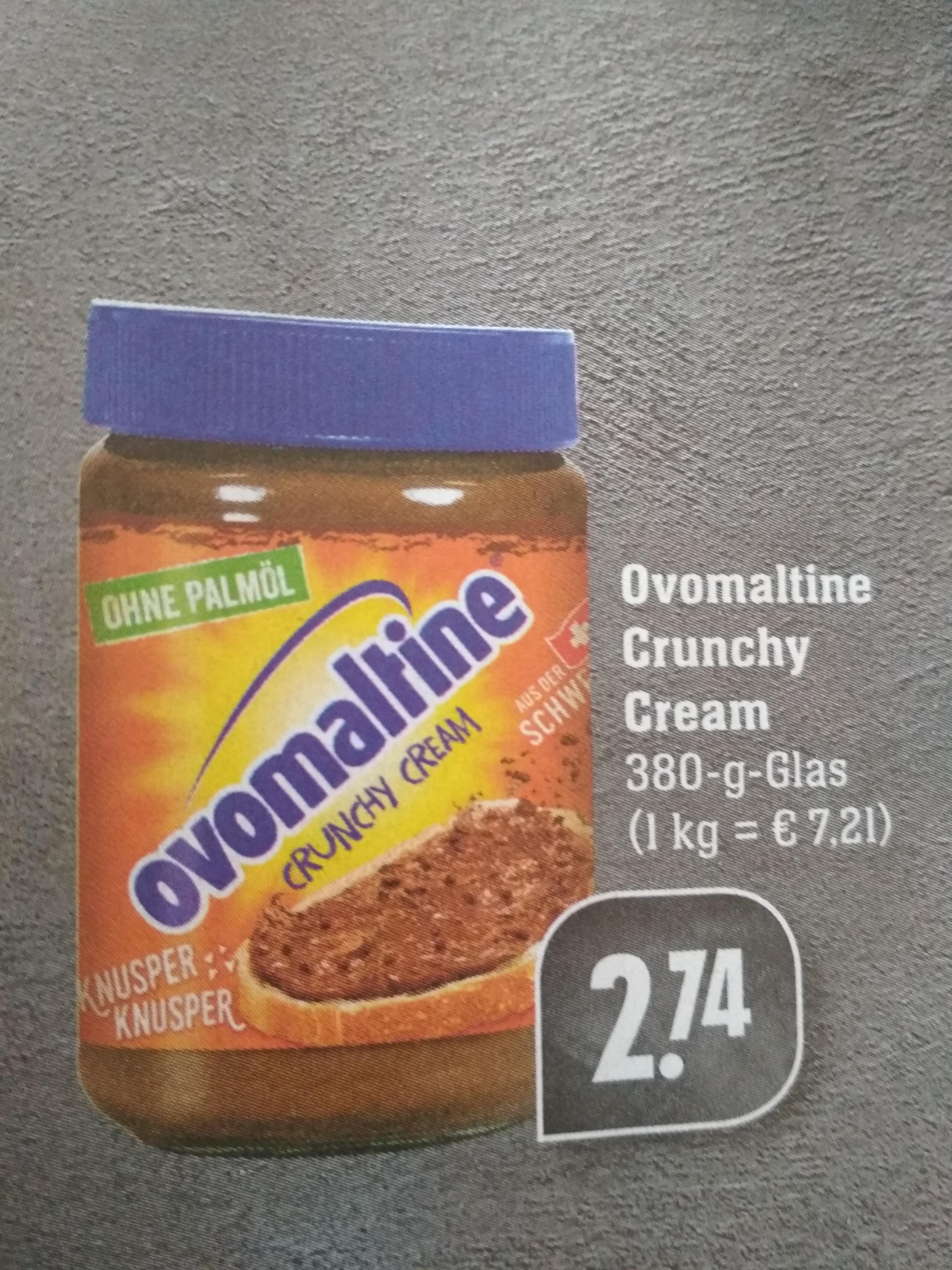 Ovomaltine Crunchy Cream 380 g für 2,74 € bei Edeka Südwest OHNE Palmöl