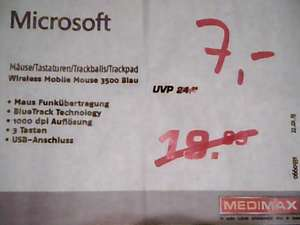(Medimax offline Berlin-Neukölln) Microsoft Wireless Mobile Mouse 3500; 2000; Microsoft Explorer Touch Mouse