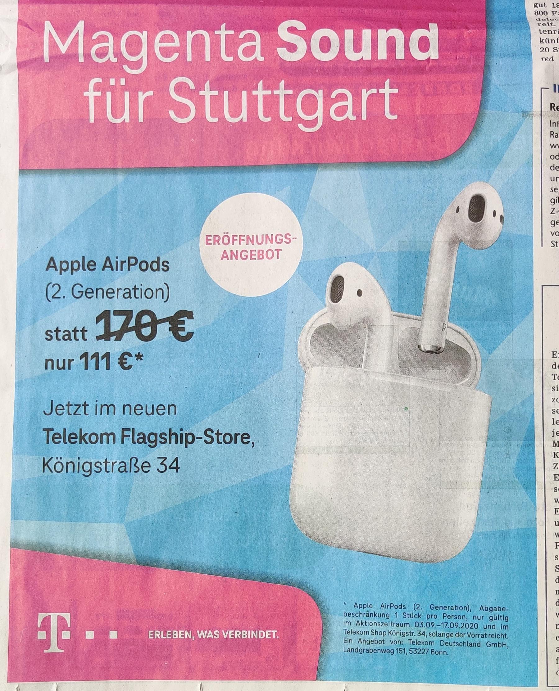 [Stuttgart] Telekom Store Apple AirPods 2. Generation