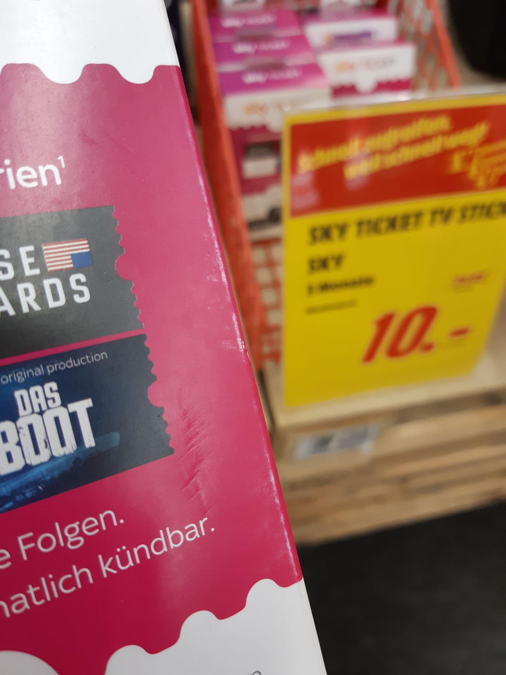 [Lokal Mediamarkt Dresden Elbepark] Sky Ticket TV Stick inkl. 3 Monate Sky Entertainment Ticket