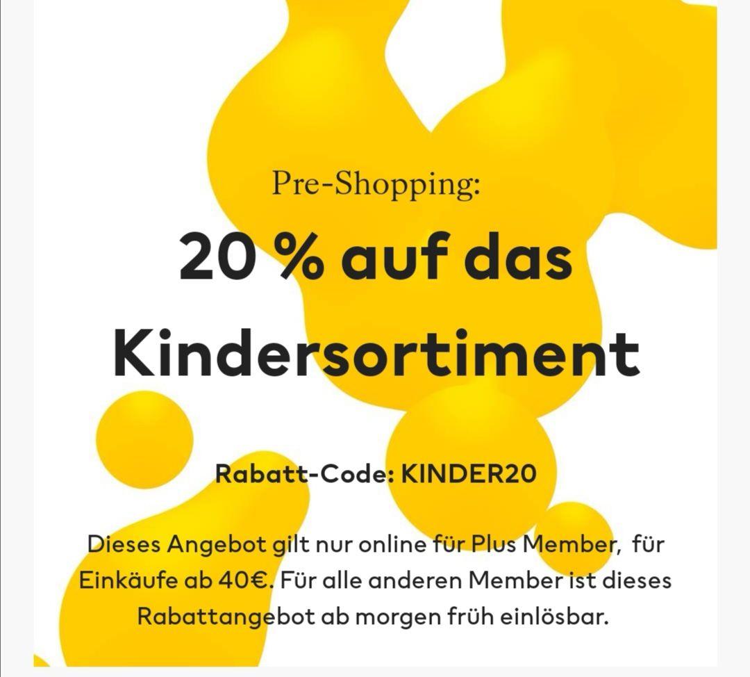 H&M Kindermode 20% für Plus Member / Member!