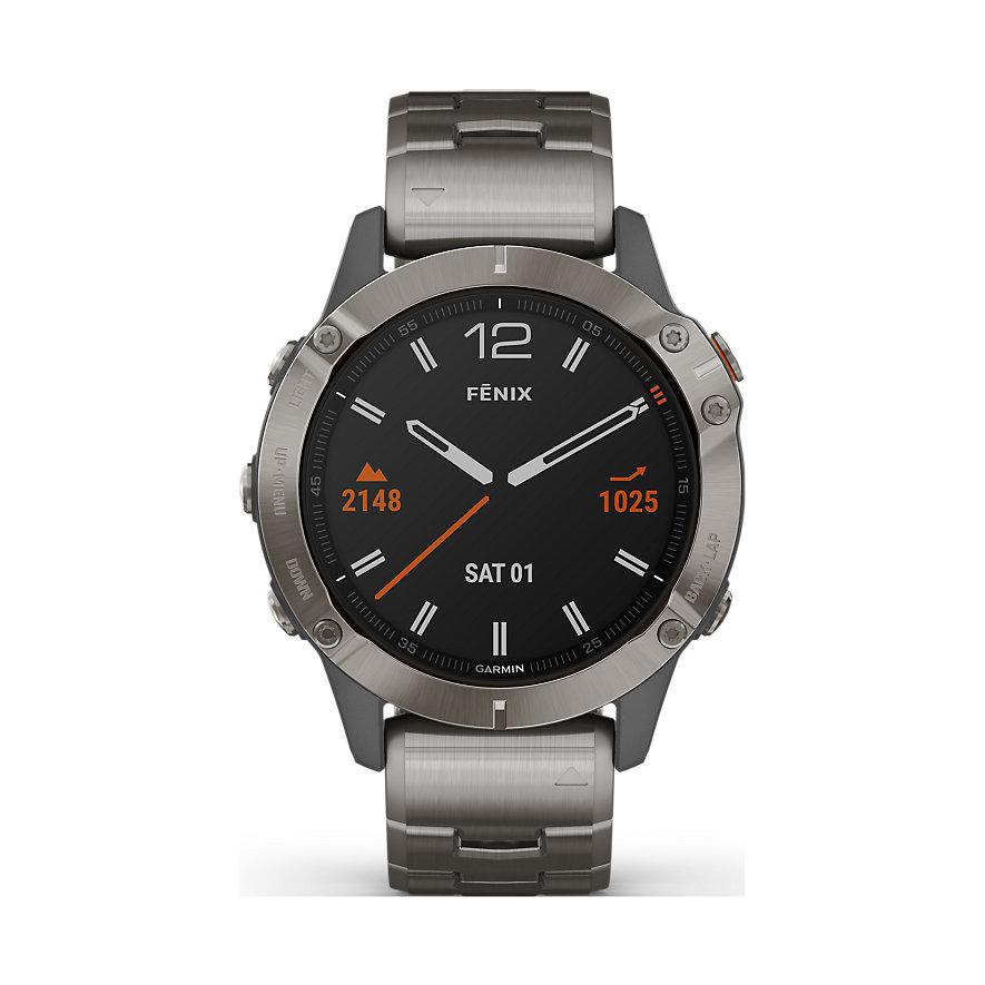 [christ.de] Garmin Smartwatch Fenix 6(X Pro Solar) Sapphire Titanium absoluter Bestpreis