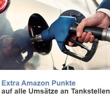 """Amazon VISA: 10-fache Punkte an Tankstellen (entspricht 5% """"Rabatt"""" auf alles: Sprit, Guthabenkarten, Zigaretten, .., evtl. personalisiert?)"""