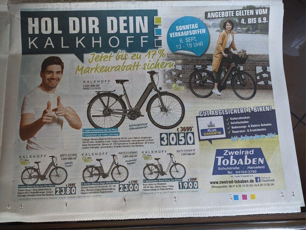"""*LOKAL 21698* Kalkoff IMAGE 5.S Exite E-City-Bike 28"""" (Model 2020)"""