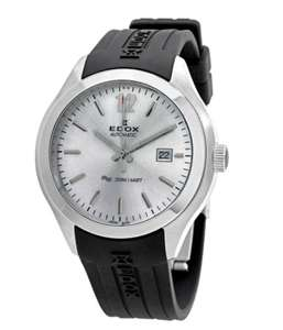 Edox C1 Date Automatic Silver Dial Men's Watch 80111 3CA AIN ( 45mm, water resistance 200 meters,Stainless Steel)