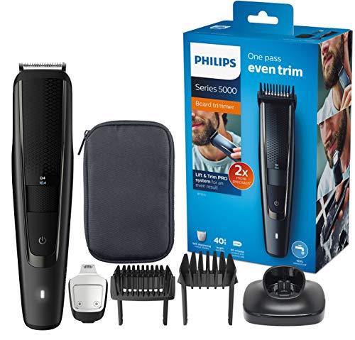 Philips Bartschneider BT5515/15, 40 verschiedene Looks, Präzisionstrimmer, Ladestand, selbstschärfende Metallklingen für 28,21€ (Amazon ES)