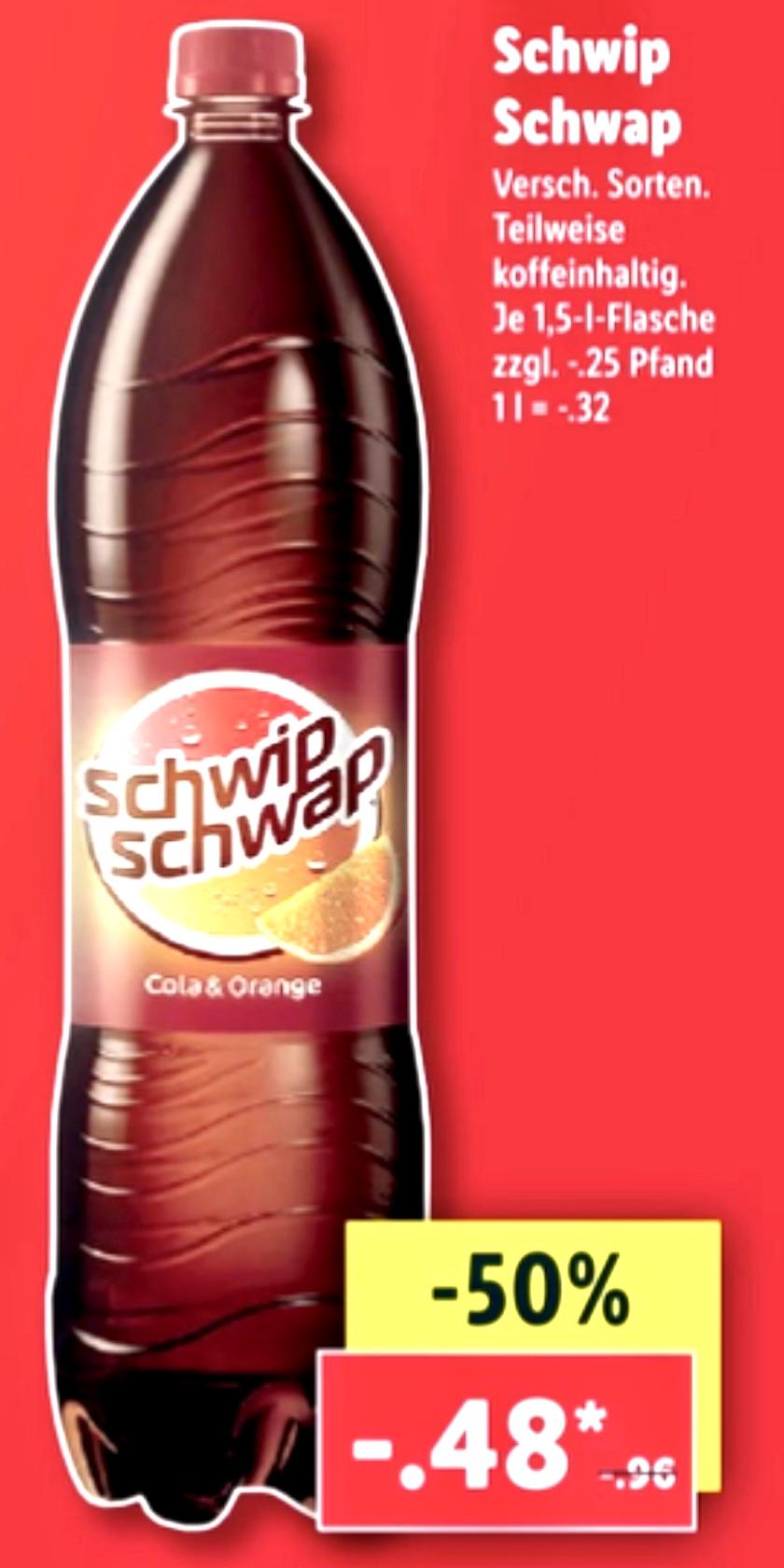 Lidl: Schwip Schwap versch. Sorten für je 0,48€ und weitere Food Angebote