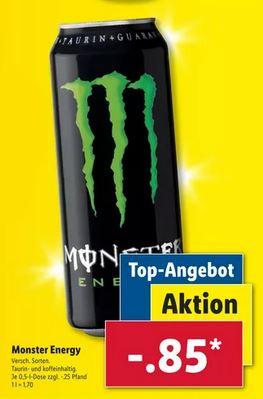 Monster Energy Drink 0,5L Dose verschiedene Sorten für nur 0,85€ zzgl. Pfand [LIDL]