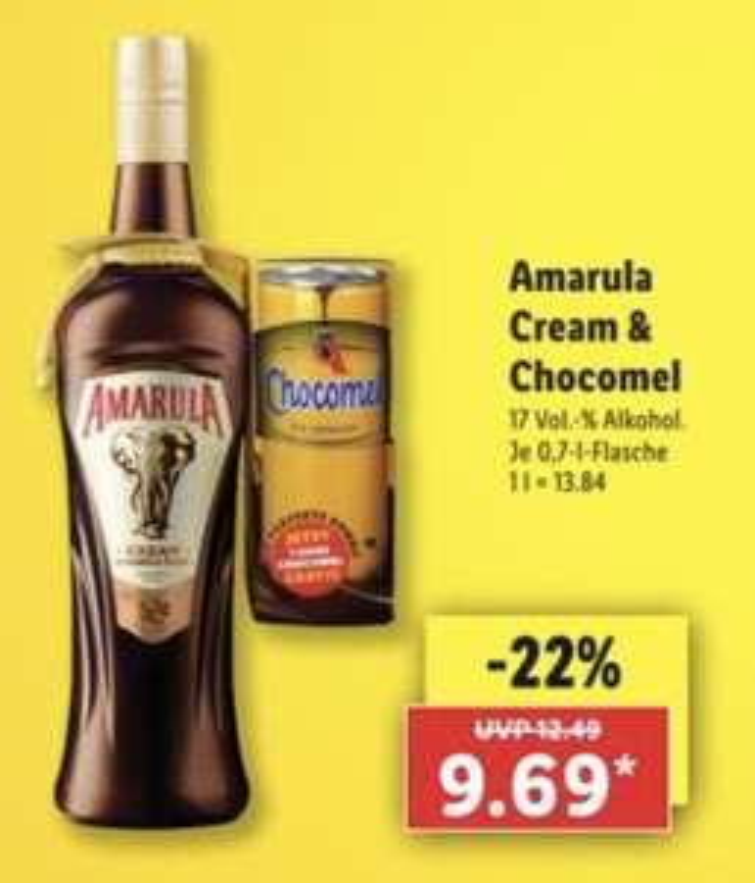 Amarula + Chocomel bei Lidl