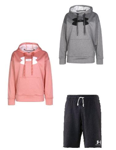 Under Armour-Sale mit Hoodies für Sie und Ihn für jew. 15,99€ bwz. Shorts für 8,99€ (zzgl. Versand)