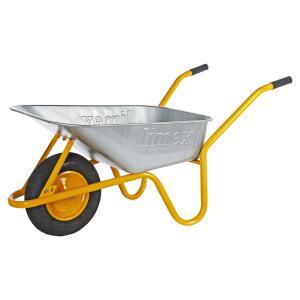 LIMEX Bau- und Gartenschubkarre, 85l, stabile Ausführung mit Kippbügel 150 kg, für 38,02 Euro [B1-Discount]