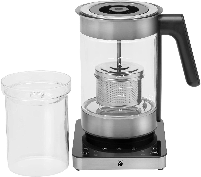 WMF Lumero 3in1 Glas-Wasserkocher 1,6 l, 360° Grad Ausgießfunktion, Teekocher, Babynahrung-Erwärmer [Amazon]