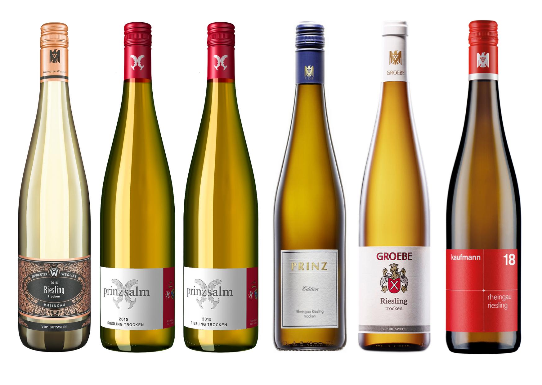 Riesling Winzerbox - 6 trockene Weißweine inklusive Versand
