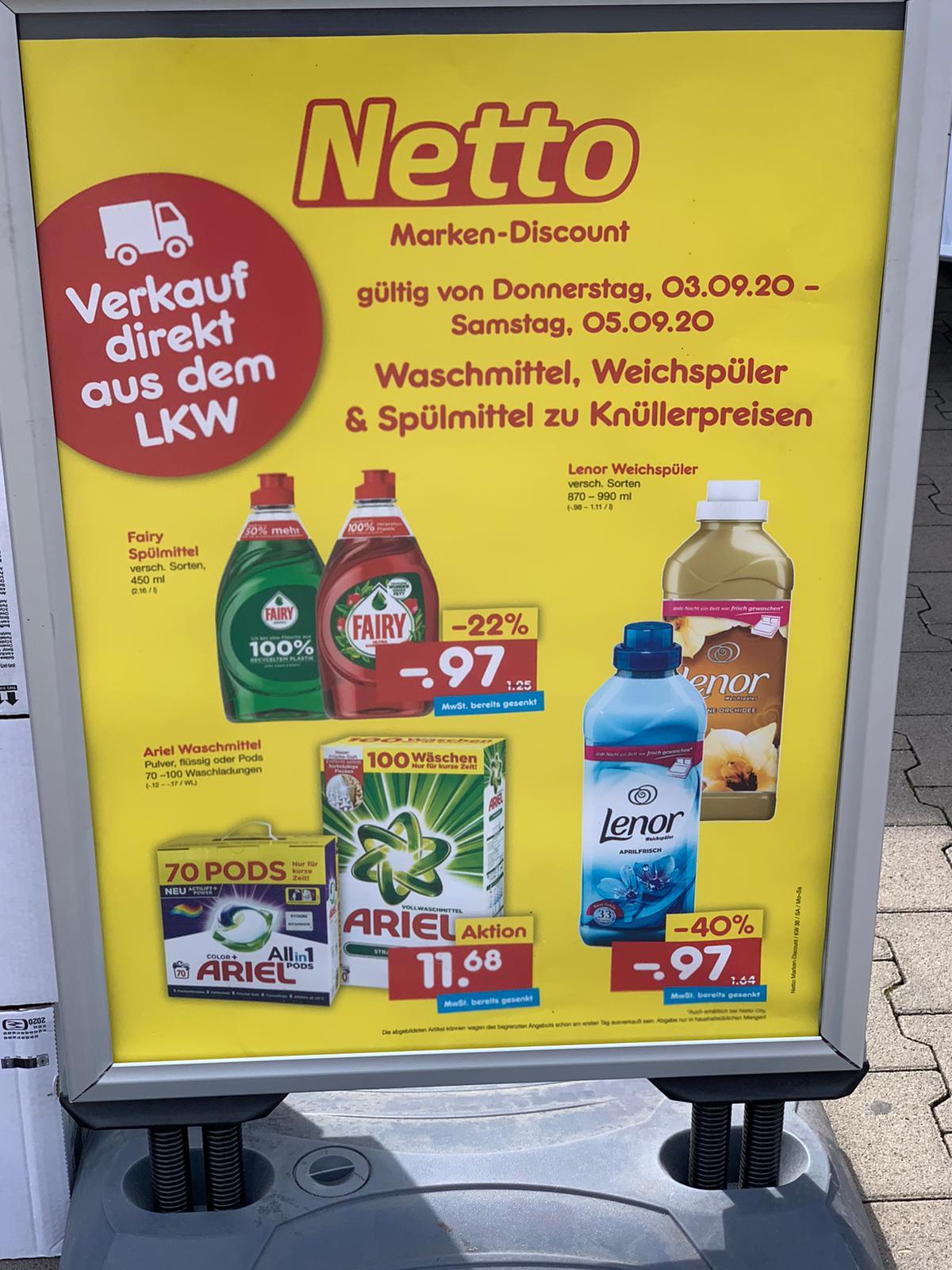 [lokal] Ariel Waschmittel, Lenor Weichspüler und Fairy Spülmittel