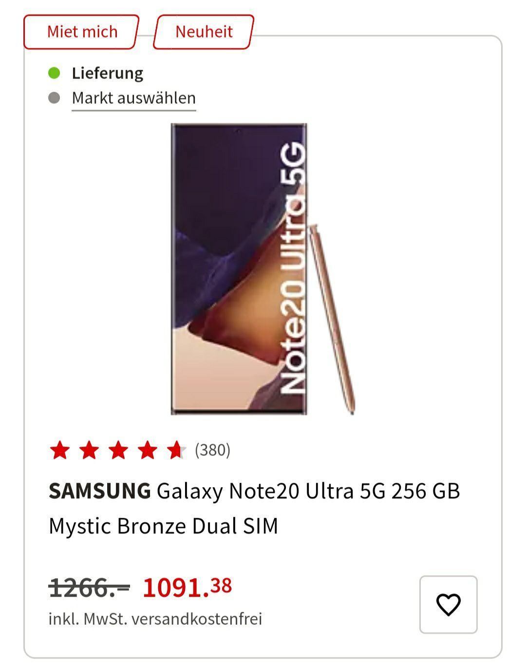 Samsung Note 20/Ultra 5G 256GB/512GB