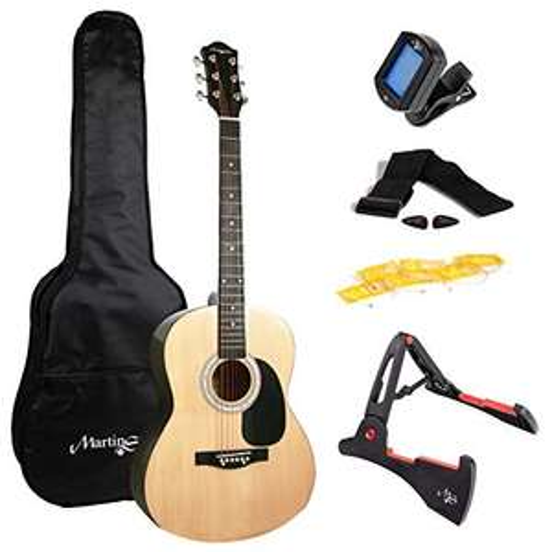 Martin Smith Akustikgitarre mit Zubehör in Natur für 58€ (52,21€ als WHD) @ Amazon