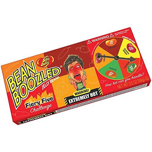 "Achtung scharf: Jelly Bean ""Bean Boozled"" Flaming Five Challenge Spinner Box (mit Carolina Reaper) Partygag (Amazon)"