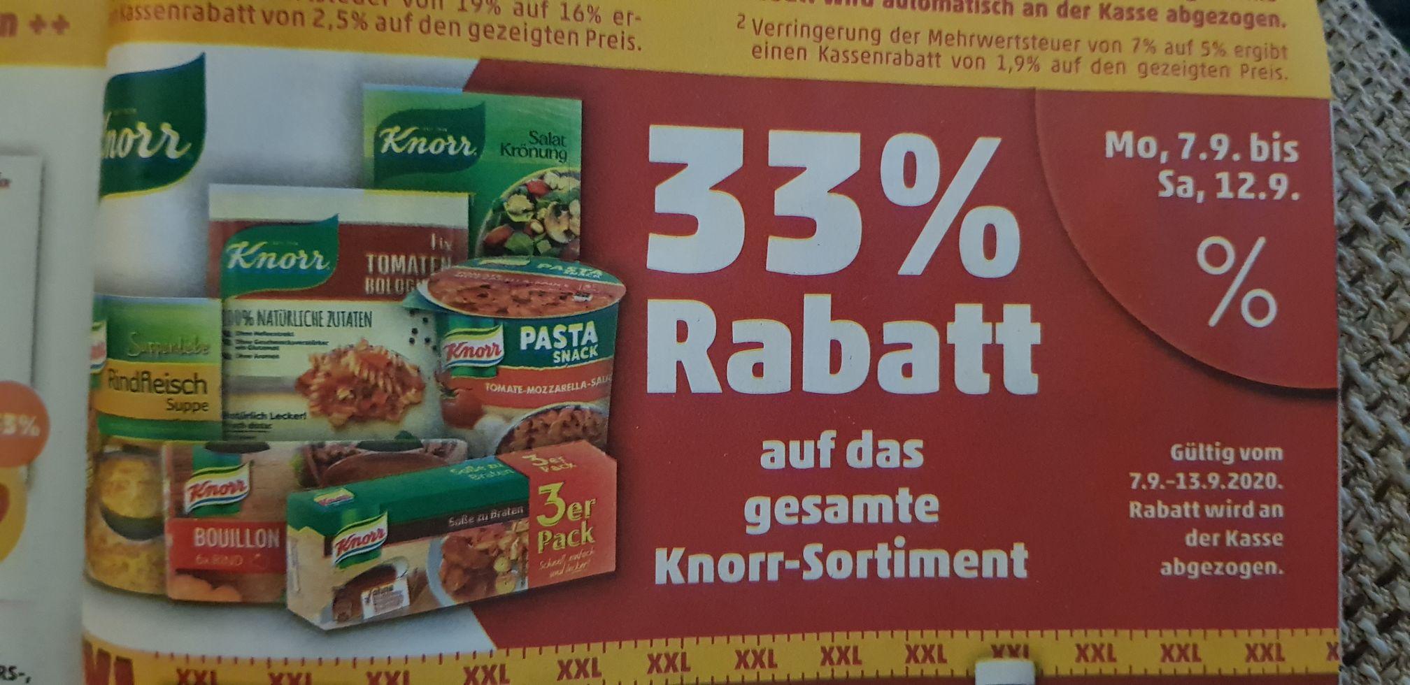 [Penny] 33% Rabatt auf das gesamte Knorr Sortiment